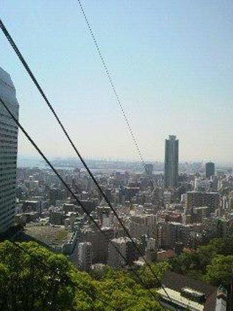 Kobe Nunobiki Herb Garden: ロープウェイからの景色