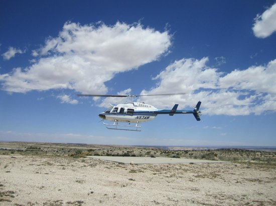 Havasupai Lodge: Helipad used during windy conditions is 5 miles away from parking lot.
