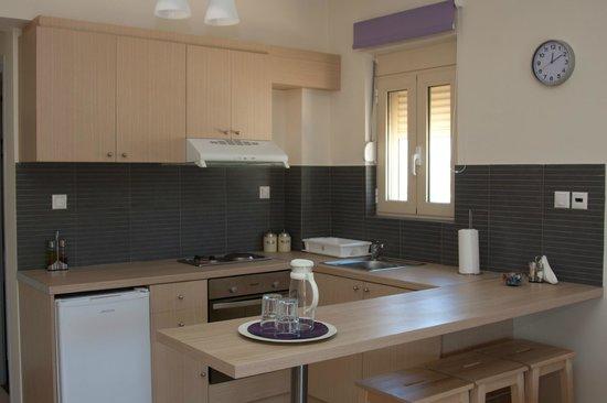 Hotel Thea - Studios & Suites: Κουζίνα πλήρως εξοπλισμένη
