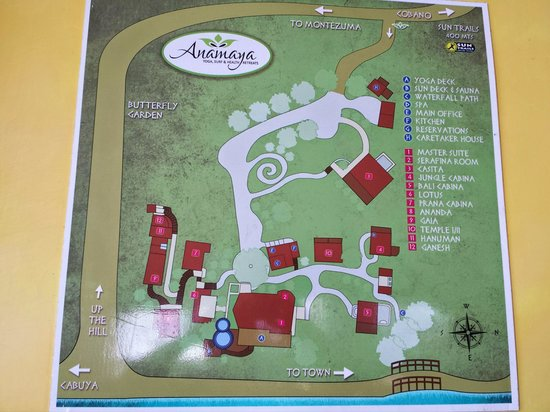 Anamaya Resort & Retreat Center: Anamaya grounds layout