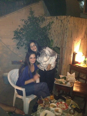 Tej Abode: Bhawna with a friend.