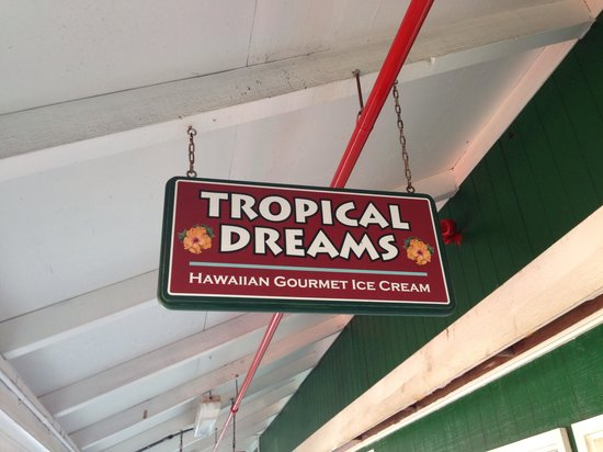Tropical Dreams: Large scoops of very flavorful ice cream
