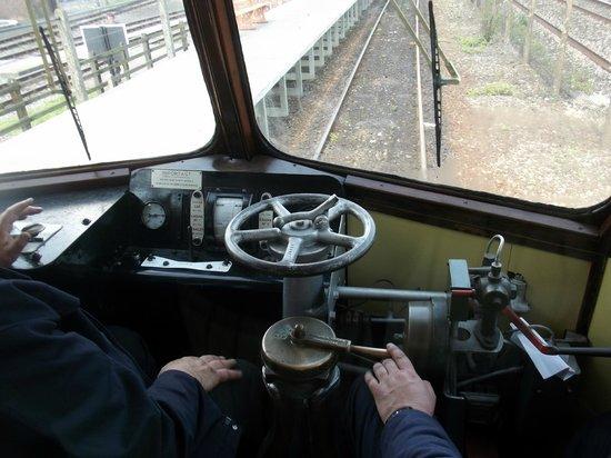 Didcot Railway Centre: Controls of GWR Railcar 22