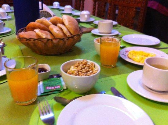 La Hostería de Anita: Desayuno