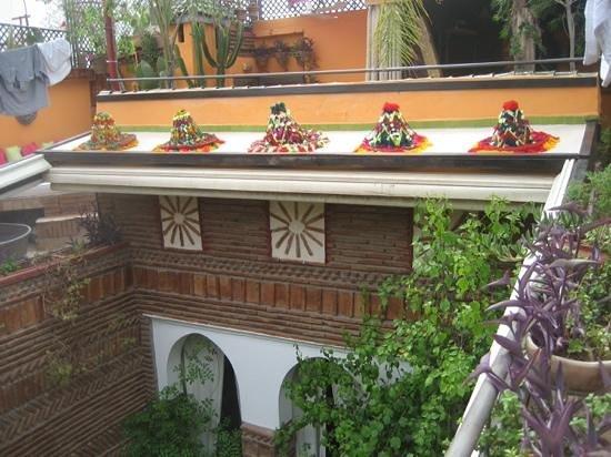 Riad CharCam: la terrasse
