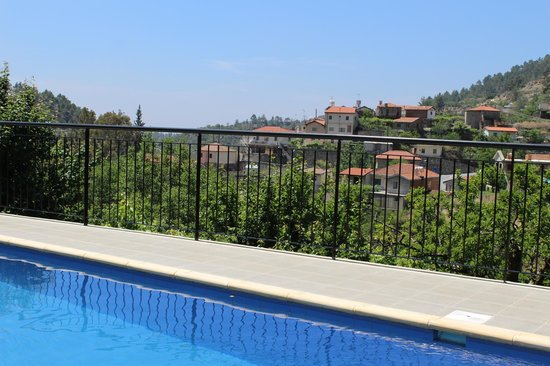 Ambelikos AgroHotel: view from pool.