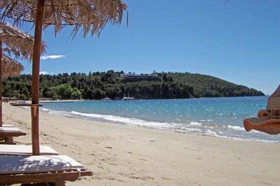 Koukounaries Beach : A Sunbed View