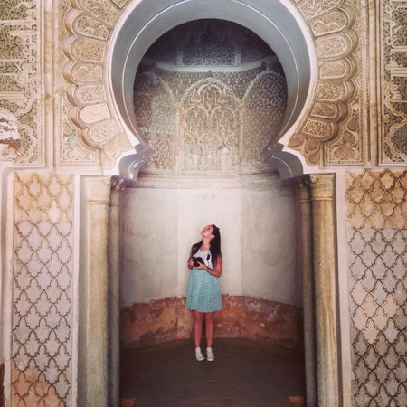 Ben Youssef Madrasa: It's big and I'm small