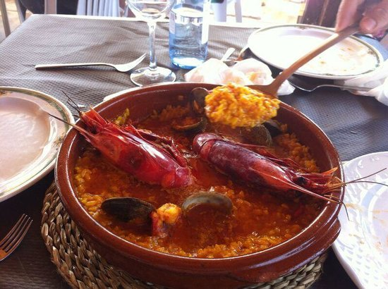 La Ola Restaurant & Lounge Bar: Arroz carabineros