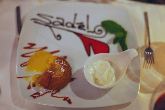 Sade Restaurant : White Chocolate Fondant at Sade, Kalkan