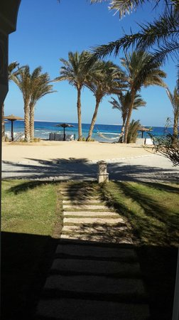 The Oberoi Sahl Hasheesh: the view from the suite