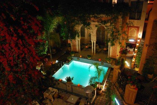Palais Sebban: Vista piscina dalla terrazza