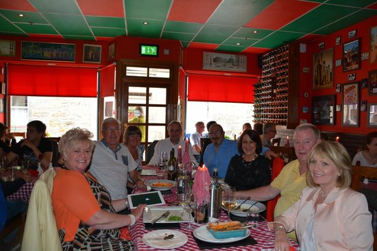 Little Italy: Friends enjoying the food and ambiance