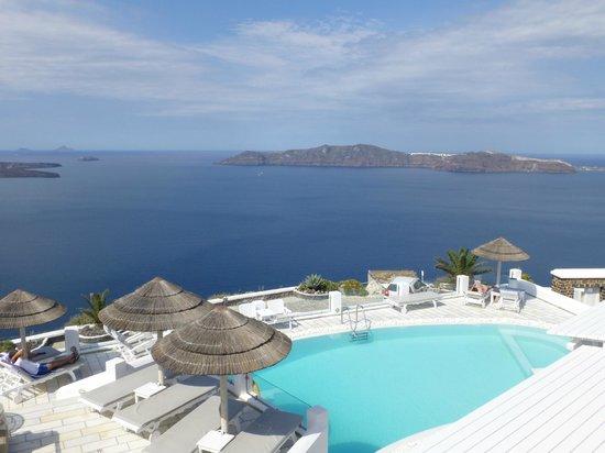 Santorini Princess: View from the restaurant