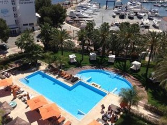 Aguas de Ibiza: The pool viewed from the roof