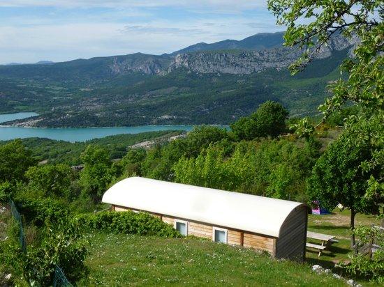 Camping de l'Aigle : Vue depuis le camping