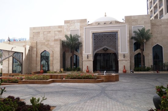 Hotel entrance picture of ajman saray a luxury collection resort ajman tripadvisor for Public swimming pools in ajman