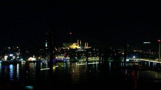 Peninsula Restaurant: night view from terrace