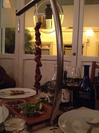 Kilo Restaurant: spiedo di filetto di manzo danese alla brace con marinatura bbq