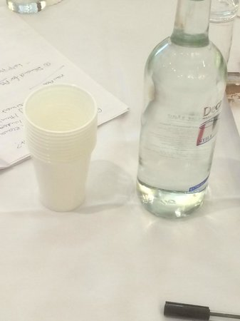 Royal Court Hotel - Coventry : Afternoon at conference 0- clearly no glasses left for water so we got given plastic cups