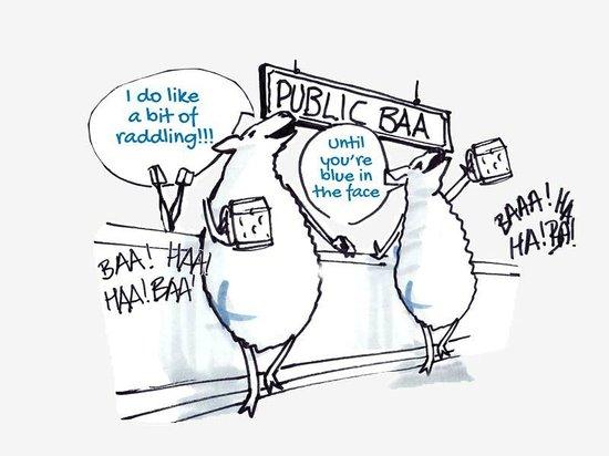 the blue raddle: Sheep Joking, Baah ha ha