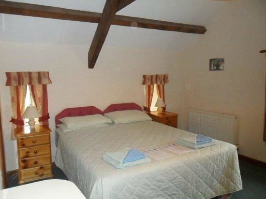 Little Bidlake Farm : One of the double bedrooms in Dovecote