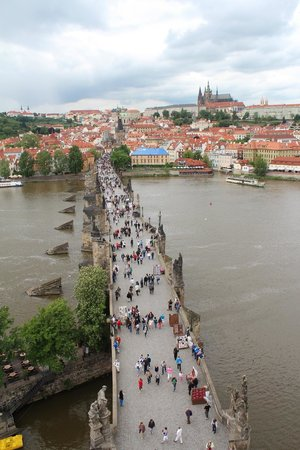 """Old Town Hall and Astronomical Clock : Best """"hidden"""" view looking towards Charles Bridge"""