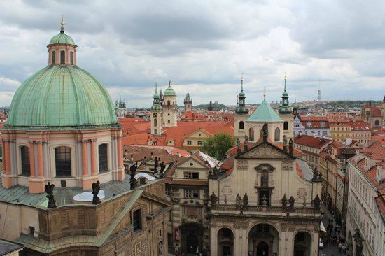 """Old Town Hall and Astronomical Clock : Best """"hidden"""" view looking towards Old Town"""
