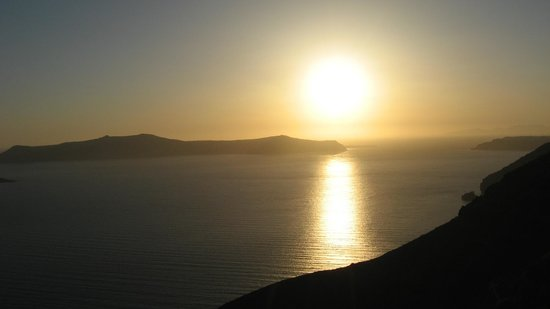 Sunrise Hotel: Вид на закат из ресторана Алькабарена