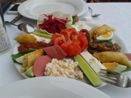 Samdan Restaurant : mezze sharing platter-love the cheese rolls!