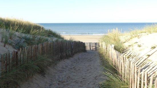 Camping Campéole Les Amis de la Plage : Zugang zum Strand