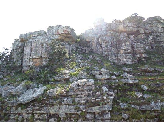 Tundavala: Asentamientos rocosos