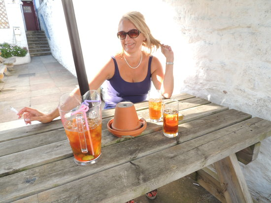 The George and Dragon: Pims in the Garden of the G&D