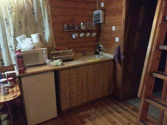Belfer's Dead Sea Cabins: Mini kitchen