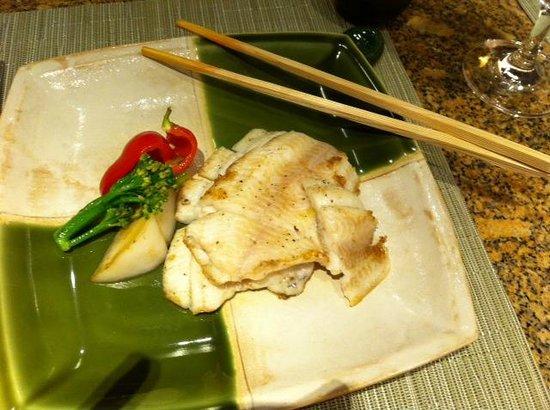 Teppanyaki Restaurant Sazanka: Cod (sub for Lamb) as I don't eat Lamb