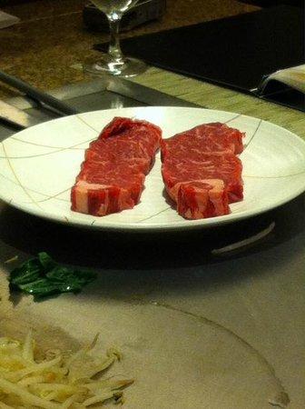 Teppanyaki Restaurant Sazanka: Wagyu Beef -