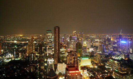 Vertigo Grill and Moon Bar: Bangkok night skyline