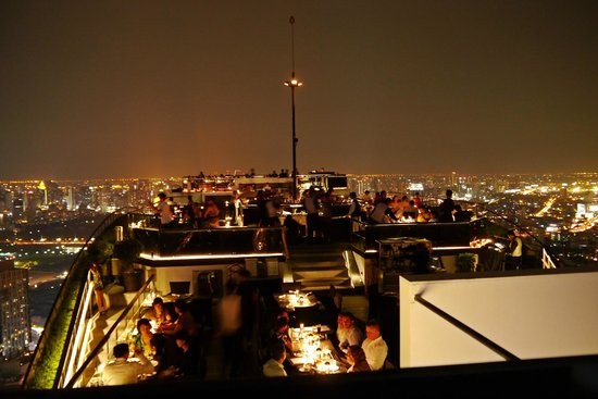 Vertigo Grill and Moon Bar: Restaurant part