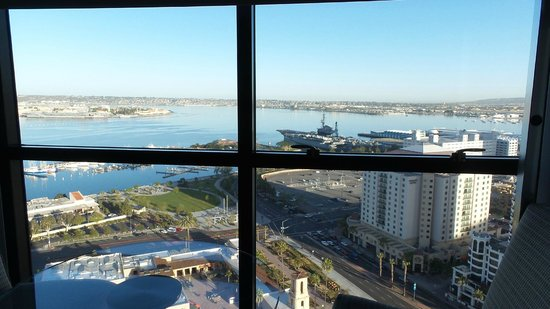 Manchester Grand Hyatt San Diego: View from bedroom over USS Midway