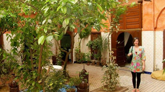 Riad Moulay: The Riad courtyard