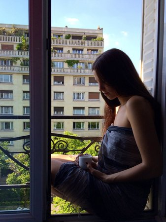Best Western Plus La Demeure: Coffee on the french balcony