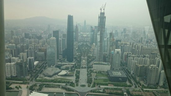 Canton Tower : Вид со смотровой площадки телебашни Гуанчжоу