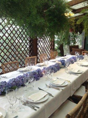 Agriturismo Fattoria Terranova - Zero Km Restaurant: Our group table!