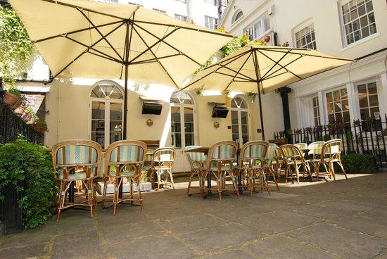 Boulestin: Hidden Courtyard for al fresco dining