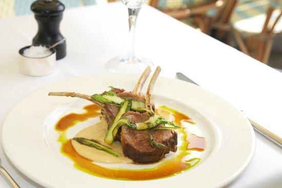 Boulestin: Roast Rack of Lamb with Wild Asparagus