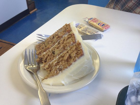 GENEROUS piece of HUMMINGBIRD CAKE at the SUB ZONE, PICKENS, SC