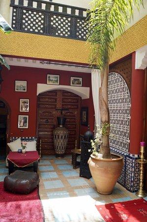 Riad Eden: The inner courtyard of the riad