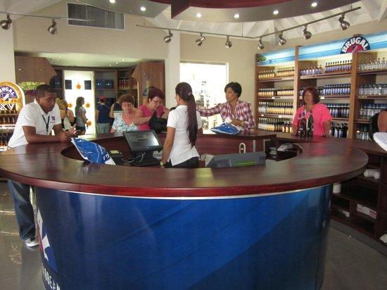 Brugal Rum Center : Factory gift shop