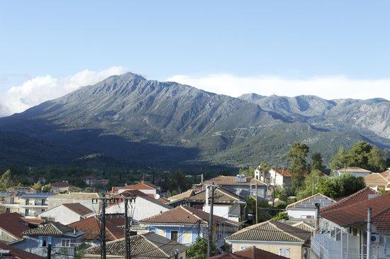 Vasiliki Blue: View from the apartment - mountains