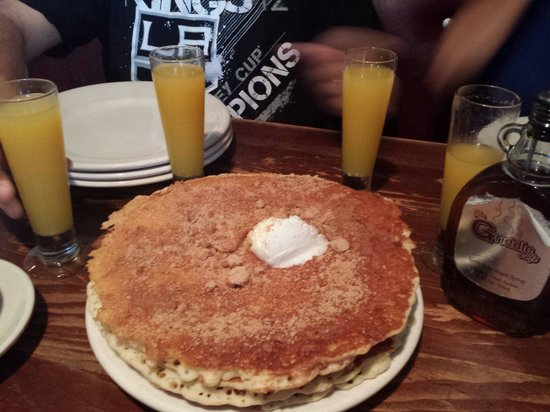 """The Griddle Cafe : These are the """"recess"""" pancakes. Fluffy, delicious, sweet and a hint of salty (with a little add"""